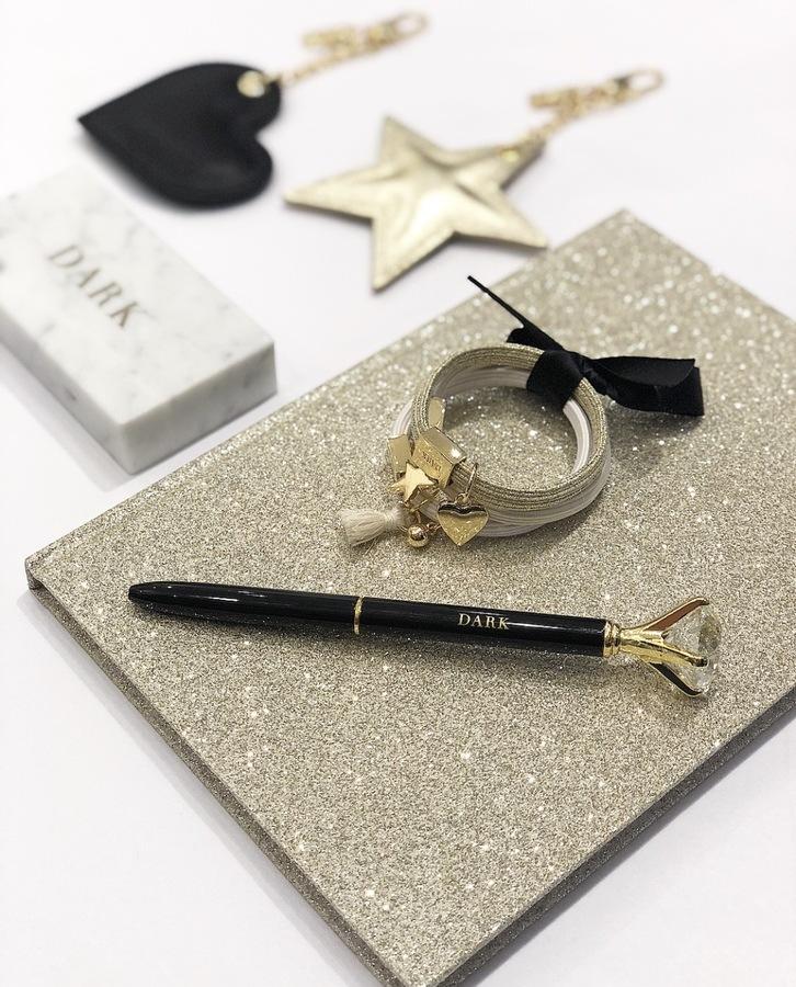 DARK Glitter Notebook A5 Silver