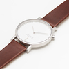 Felix B Ren Dag Silver/White/Brown - Leather