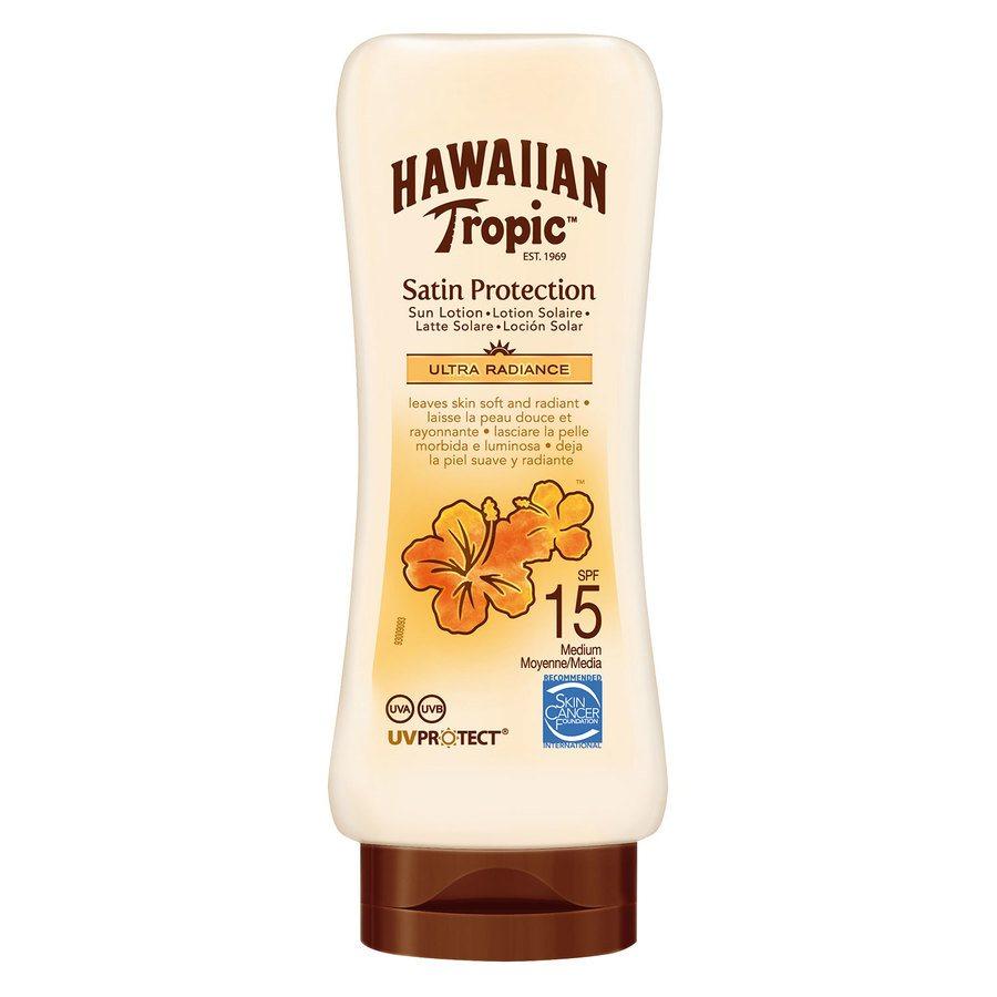 Hawaiian Satin Protection Sun Lotion SPF 15 180 ml