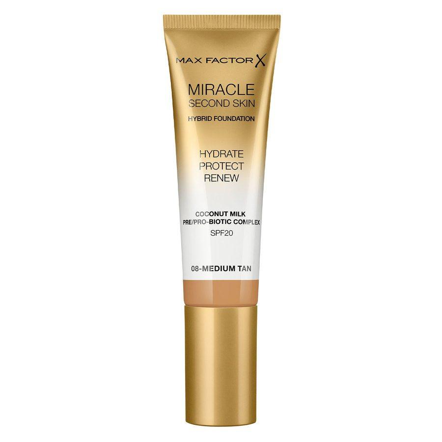Max Factor Miracle Second Skin Foundation - #008 Medium Tan 33ml