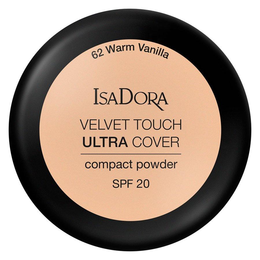 IsaDora Velvet Touch Ultra Cover Compact Powder SPF20 62 Warm Vanilla 7,5g