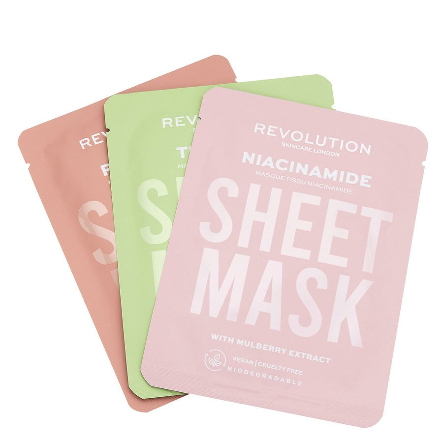 Revolution Beauty Revolution Skincare Biodegradable Oily Skin Sheet Mask 3pcs
