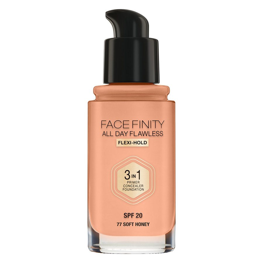 Max Factor Facefinity All Day Flawless 3-In-1 Foundation #77 Soft Honey 30ml