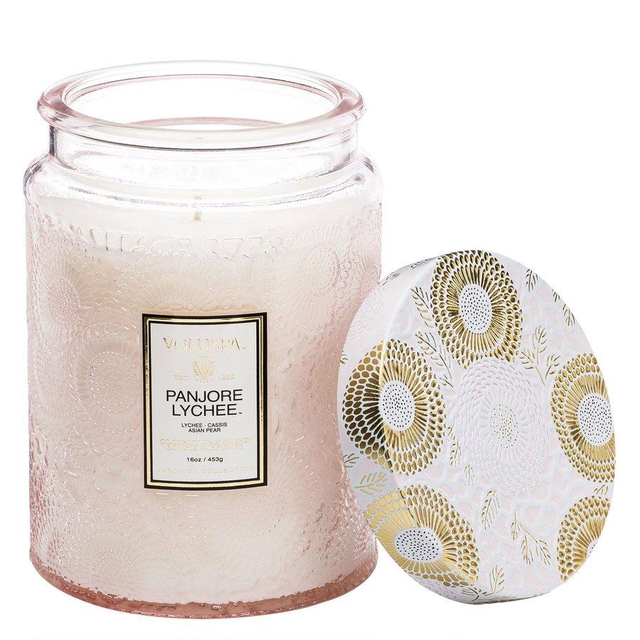 Voluspa Large Glass Jar Candle Panjore Lychee 455g