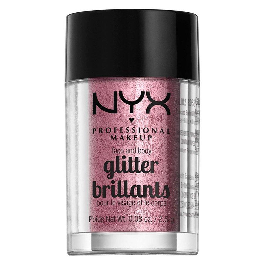 NYX Professional Makeup Face And Body Glitter Brilliants Rose GLI02 2,5g