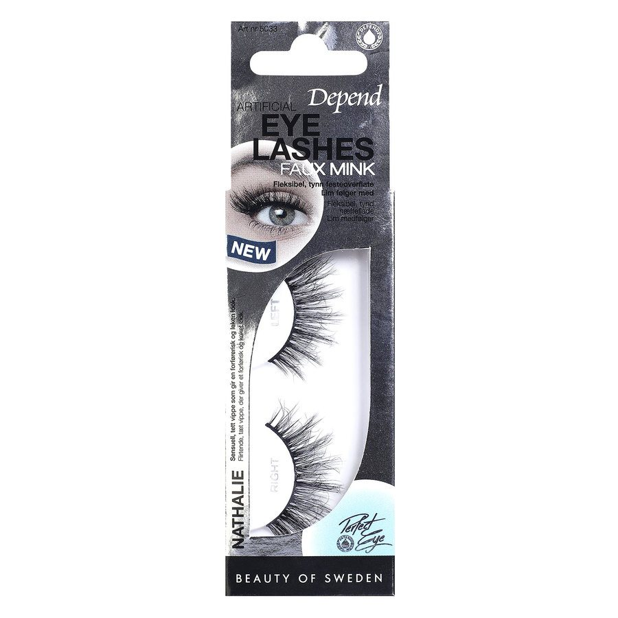Depend Artificial Eyelashes Faux-Mink Nathalie