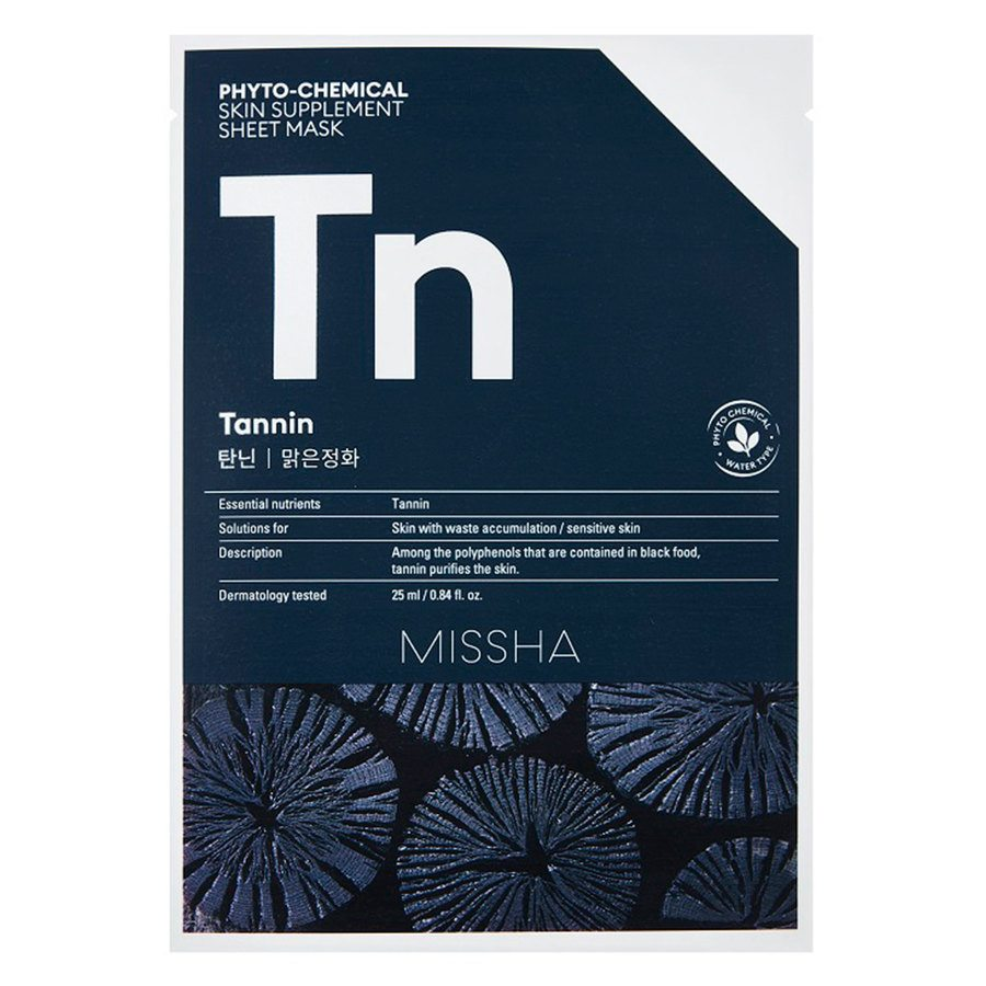 Missha Phytochemical Skin Supplement Sheet Mask Tannin 25ml
