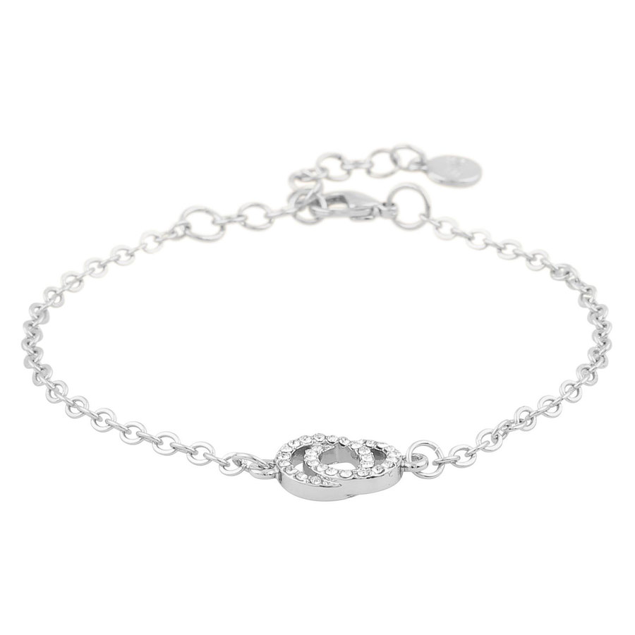 Snö Of Sweden Francis Chain Bracelet Silver/Clear 16–17cm