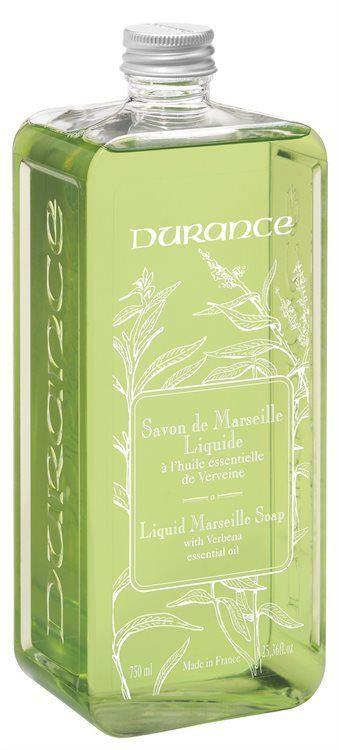 Durance Liquid Marseille Soap With Verbena Essential Oil Refill 750ml
