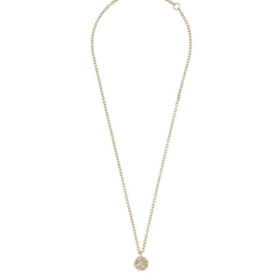 Snö Of Sweden Rue Coin Pendant Necklace Plain Gold 40cm