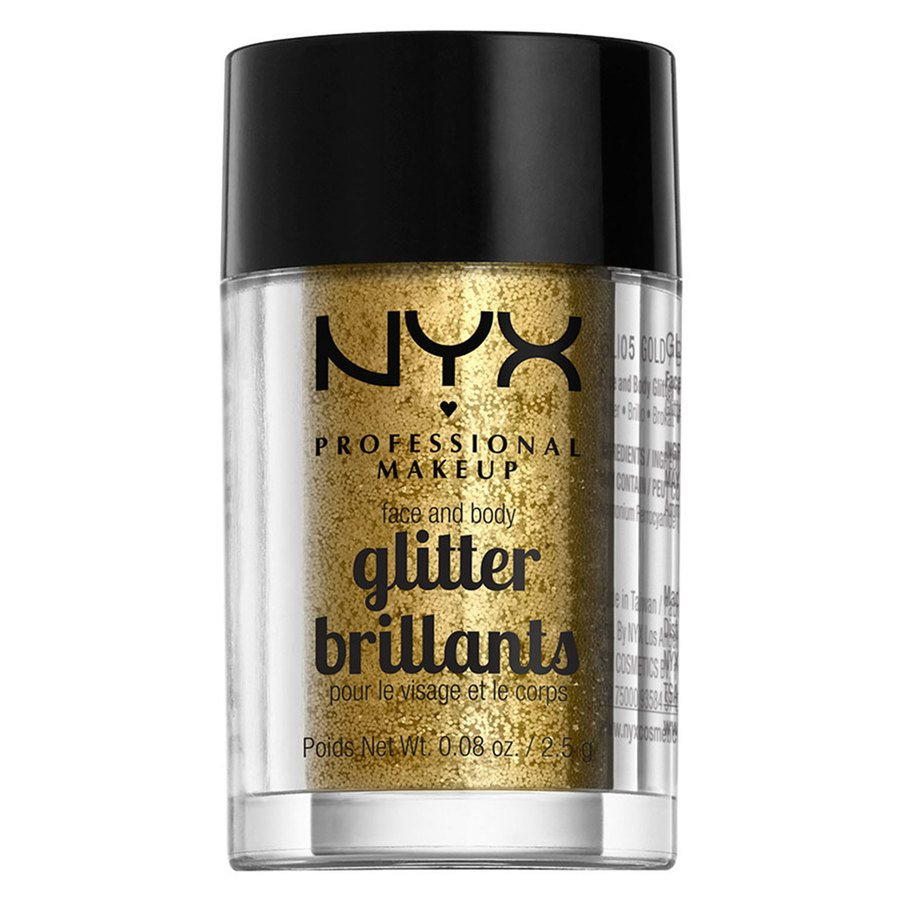 NYX Professional Makeup Face And Body Glitter Brilliants Gold GLI05 2,5g