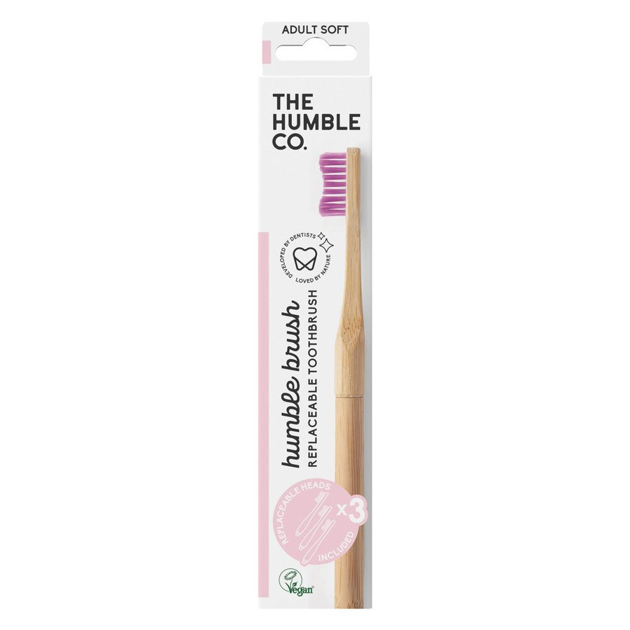 The Humble Co Humble Brush Interchangeable Head Purple Soft
