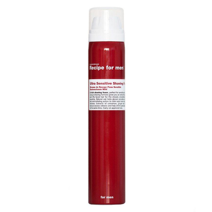 Recipe For Men Ultra Sensitive Shaving Foam 100ml