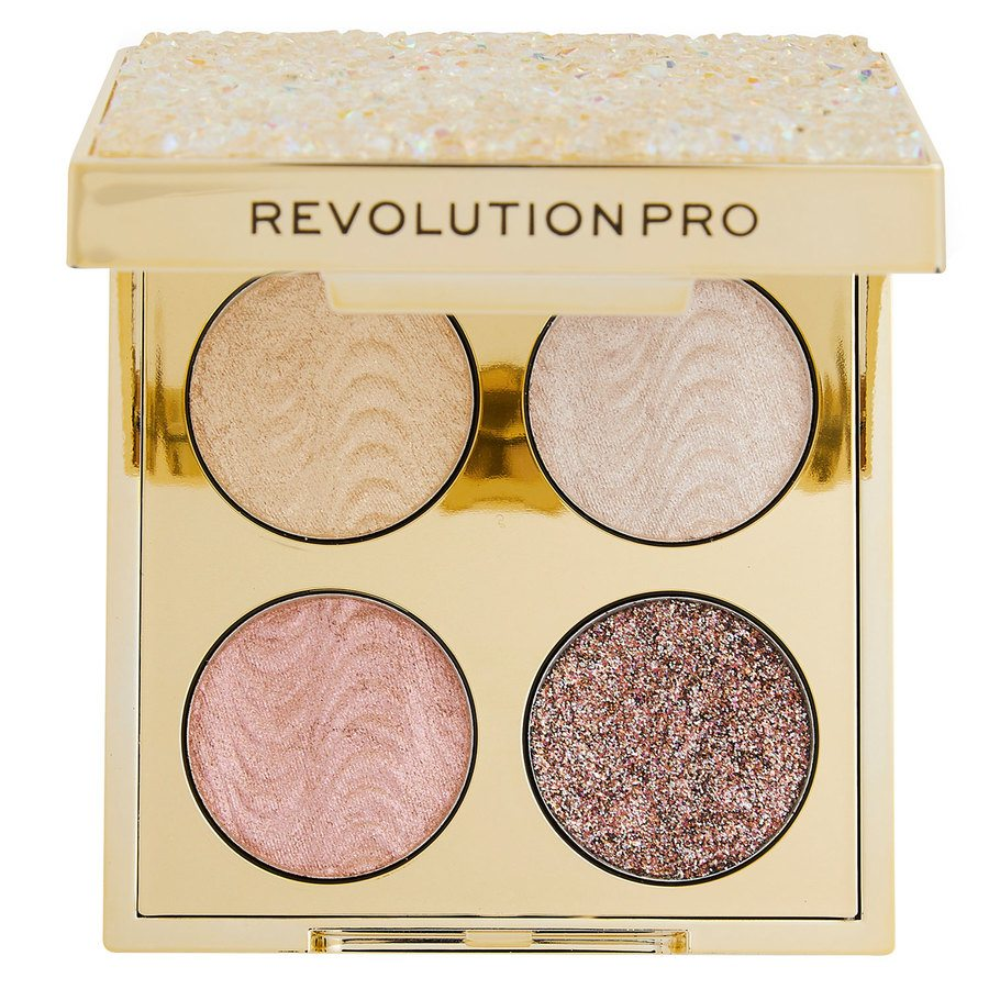 Makeup Revolution Pro Ultimate Crystal Eye Quad Champagne Crystal 4x0,8g