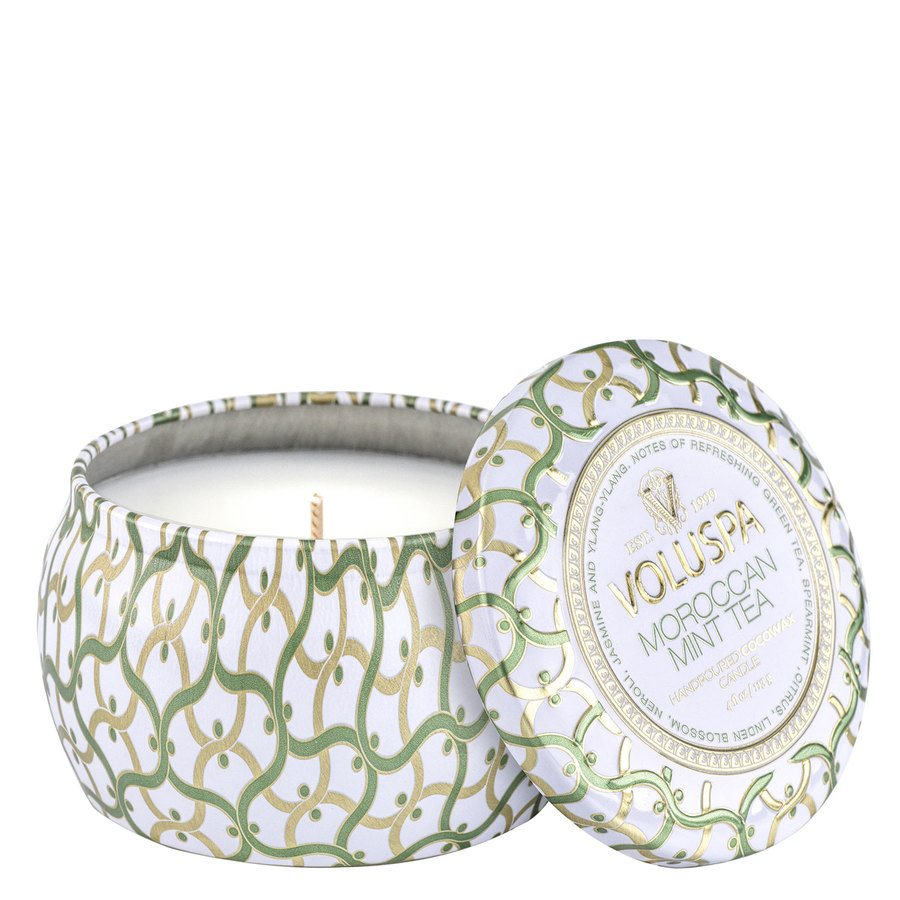 Voluspa Maison Mini Tin Candle Moroccan Mint Tea 113g