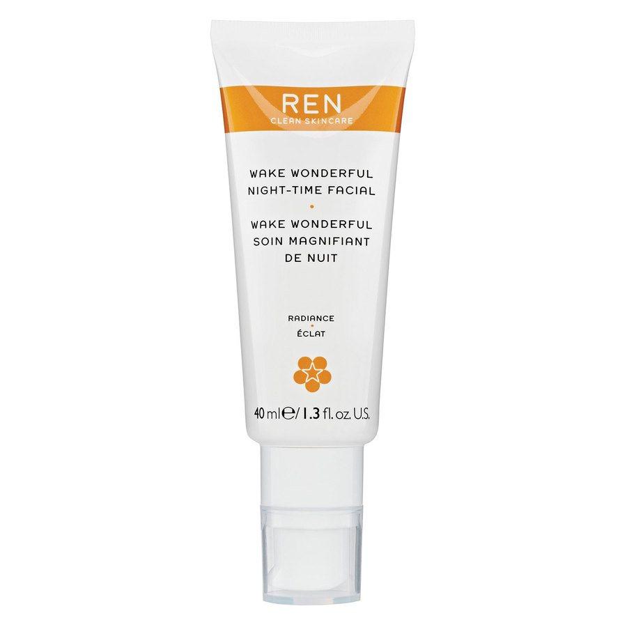 REN Clean Skincare Wake Wonderful Night-Time Facial 40ml