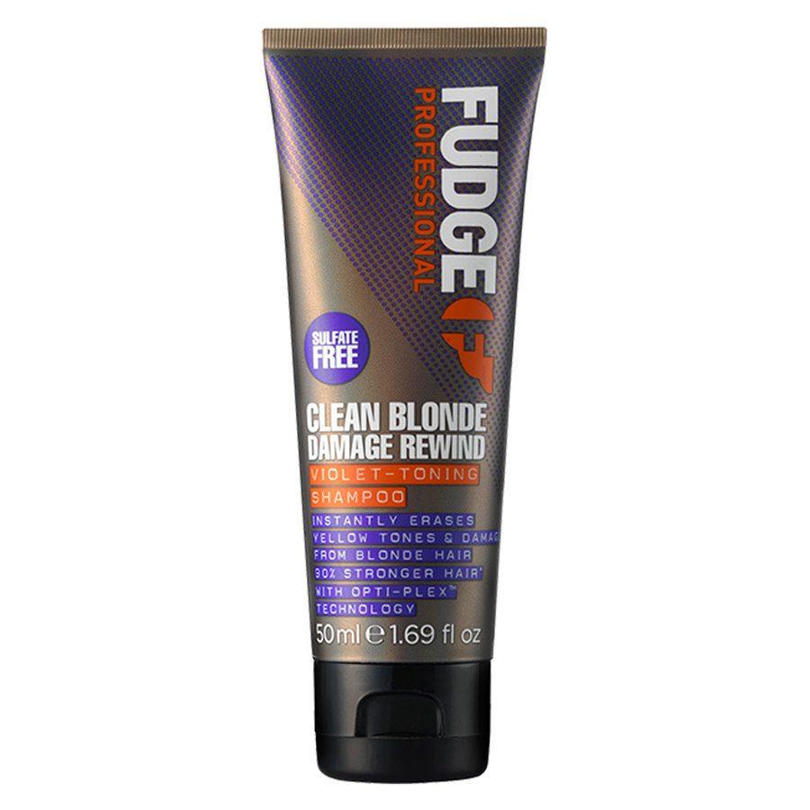 Fudge Clean Blonde Damage Rewind Violet Toning Shampoo 50ml