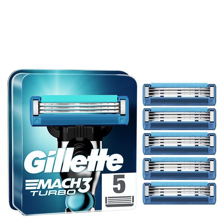 Gillette Mach3 Turbo Men's Razor Blade Refills 5pcs