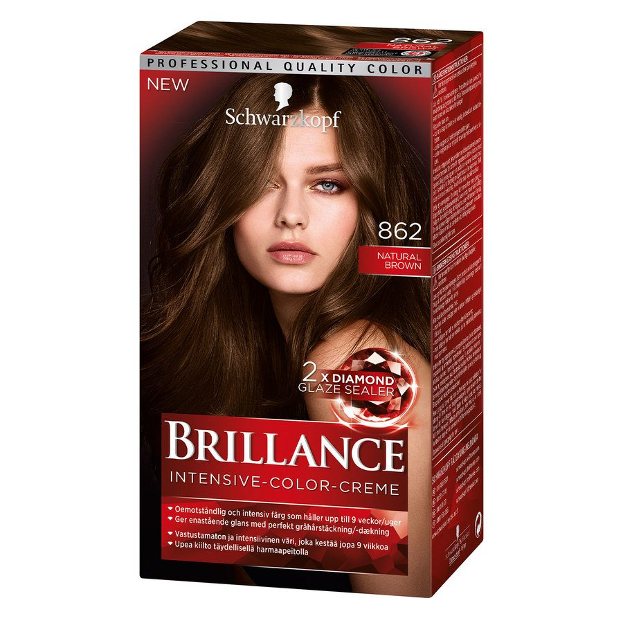 Schwarzkopf Brillance Intensive Color Creme 862 Natur Brown
