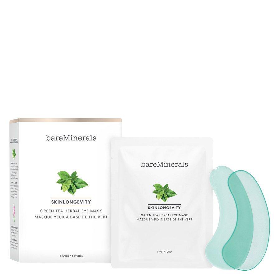 BareMinerals Skinlongevity Green Tea Herbal Eye Mask 6pair