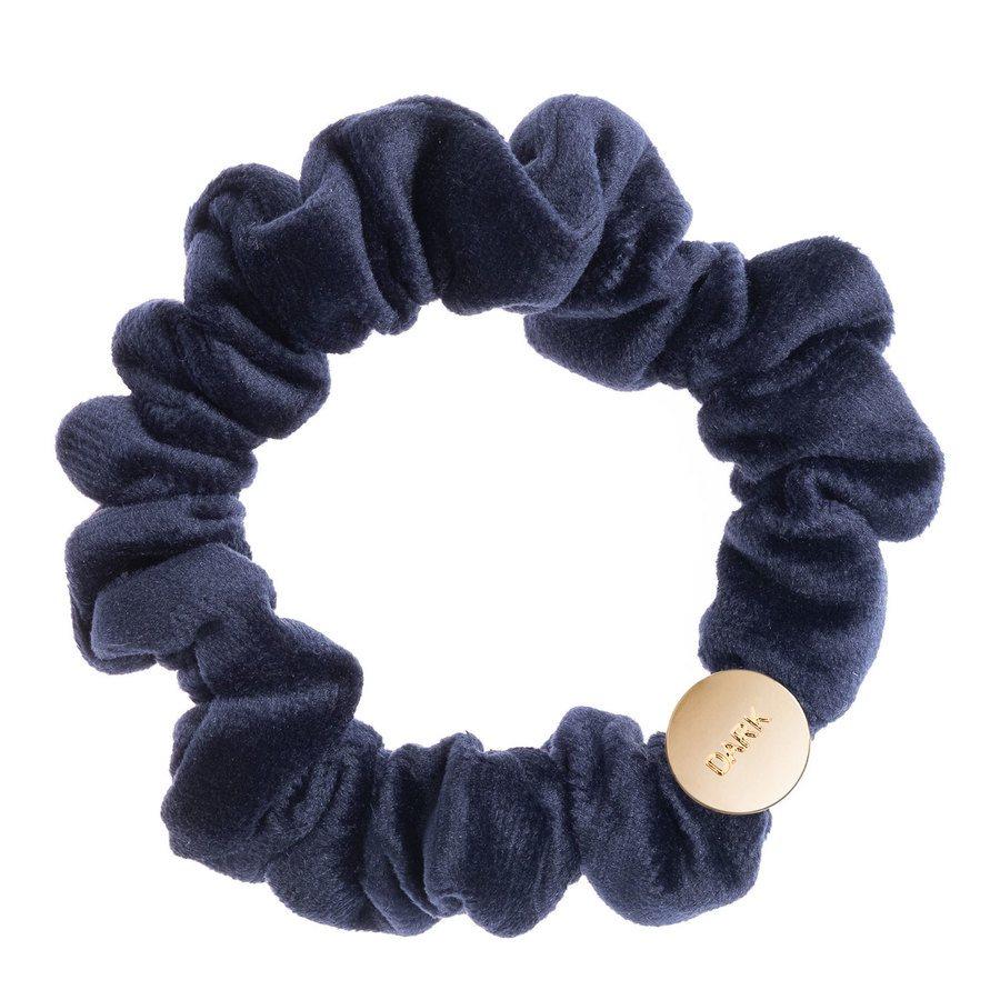 DARK Velvet Mini Scrunchie Navy Blue