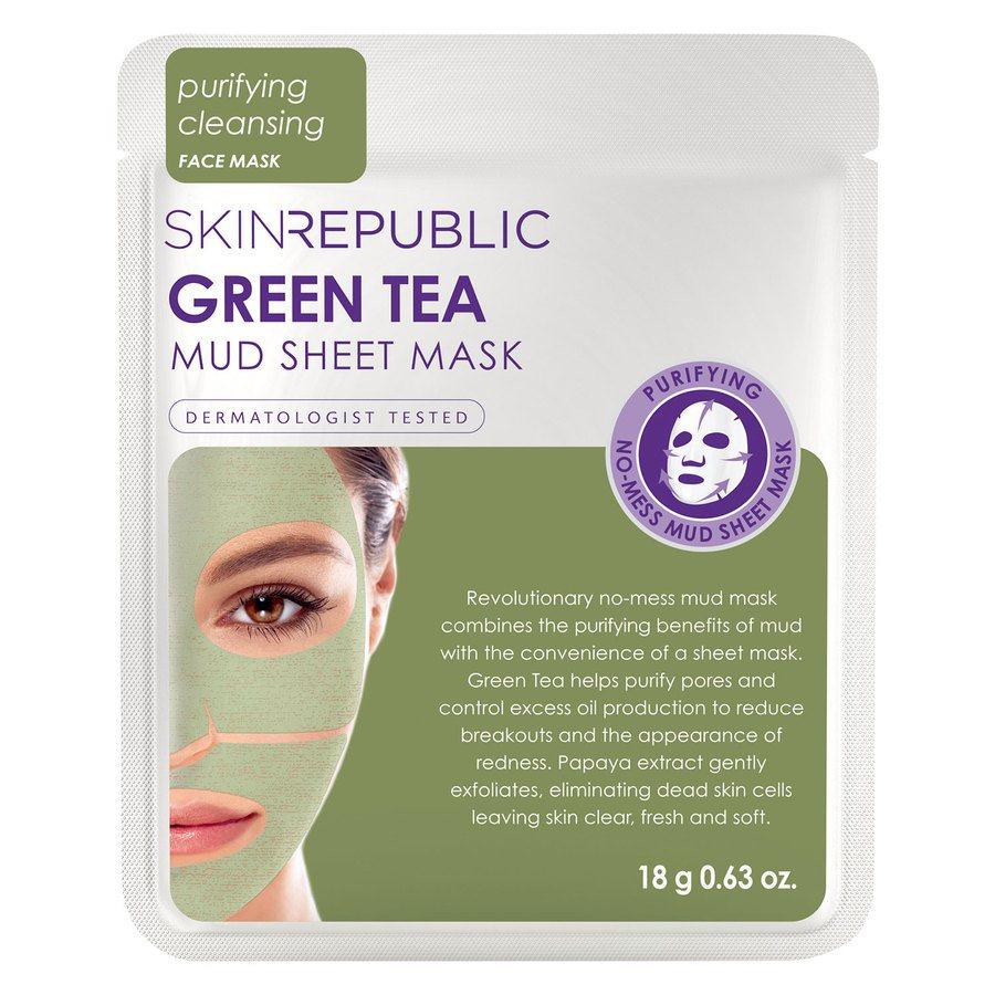 Skin Republic Green Tea Mud Sheet Face Mask 18g