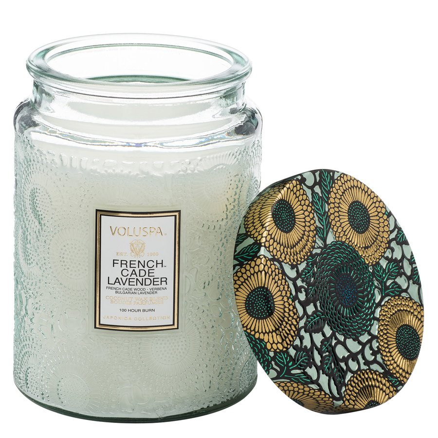 Voluspa Large Glass Jar Candle French Cade & Lavender 455g