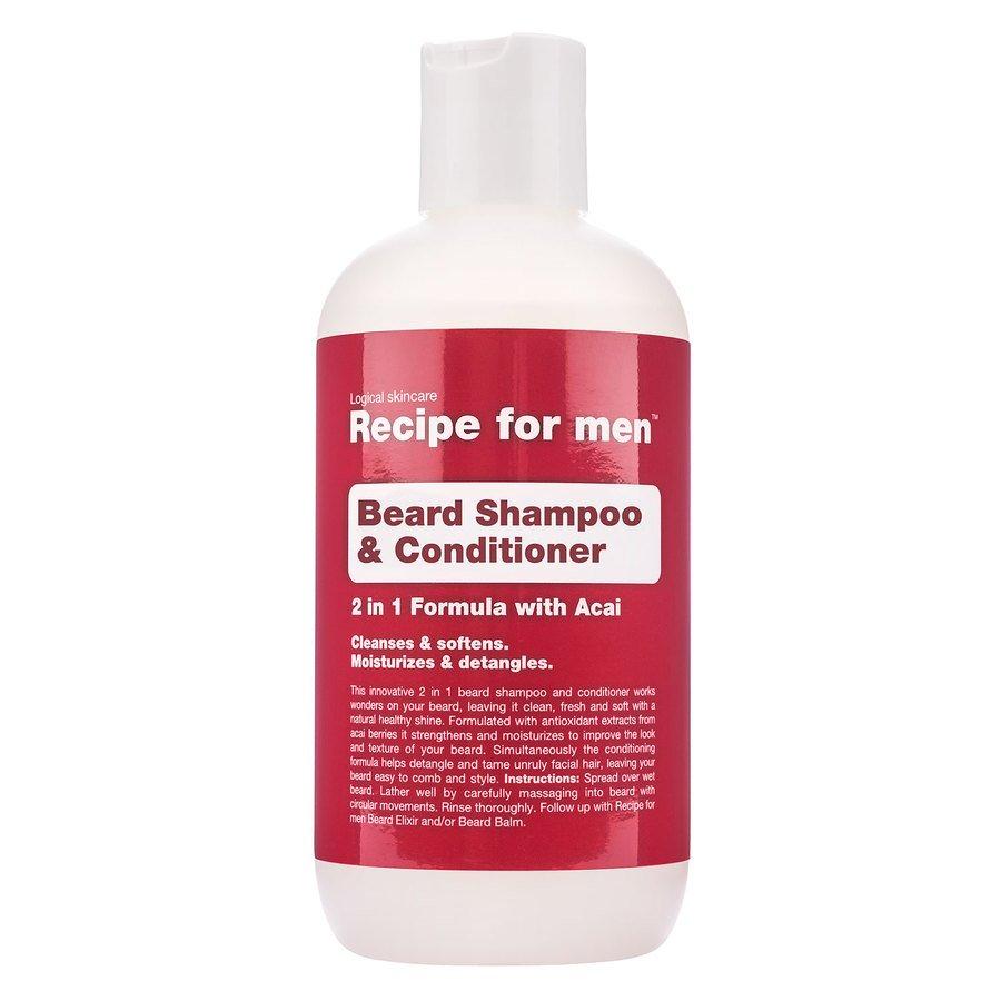 Recipe For Men Beard Shampoo & Conditioner 250ml