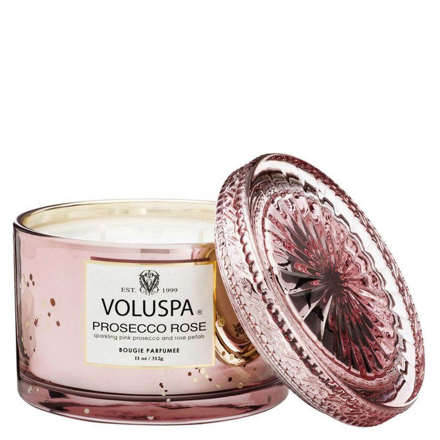 Voluspa Boxed Corta Maison Glass Candle Prosecco Rose 312g