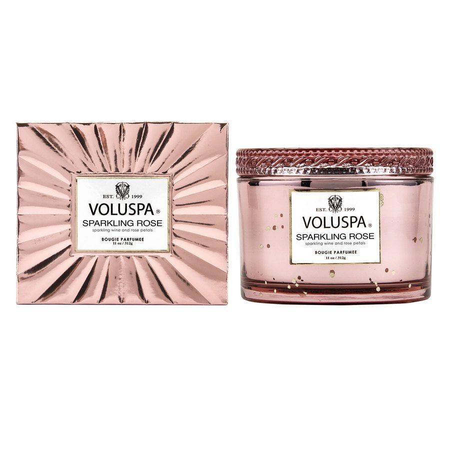 Voluspa Boxed Corta Maison Glass Candle Sparkling Rose 312g