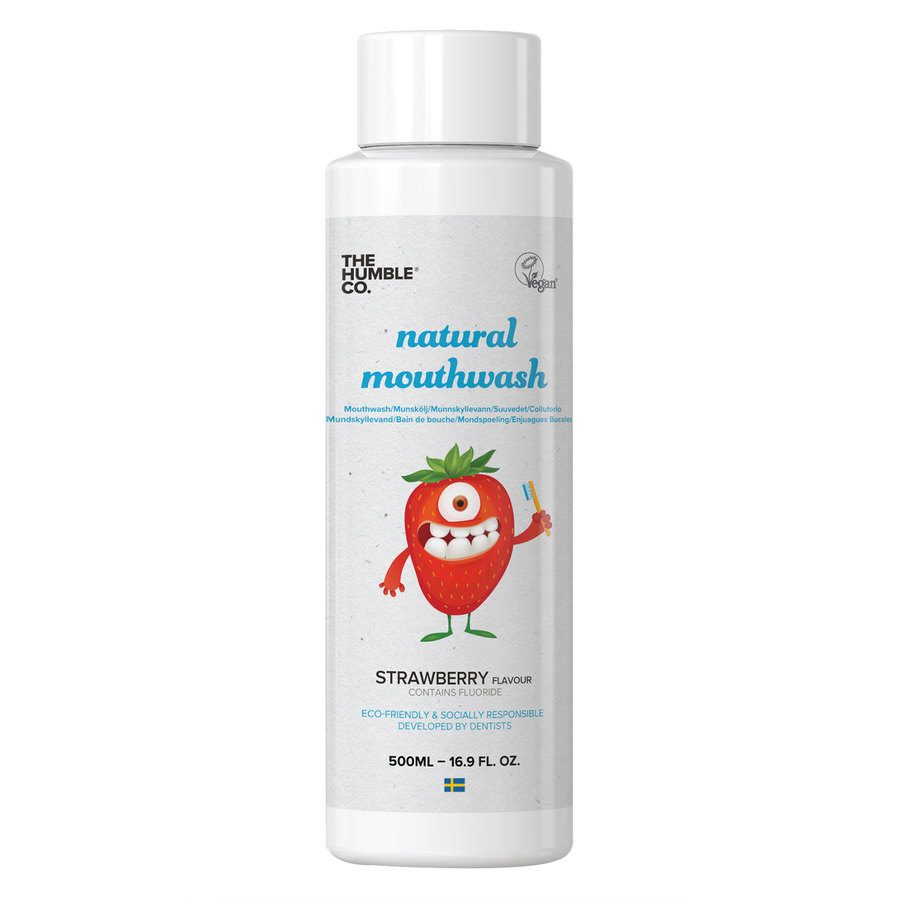 The Humble Co Humble Natural Mouthwash Kids Strawberry 500ml