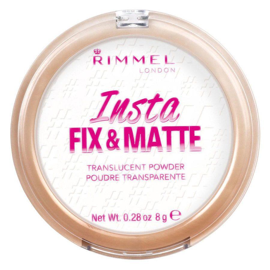 Rimmel London Insta Fix And Matte Powder #001 Translucent 8g