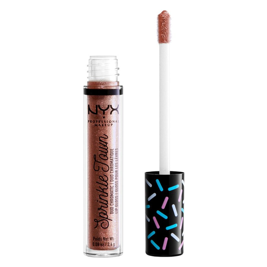 NYX Professional Makeup Sprinkle Town Duo Chromatic Lip Gloss 01 Shimmer Cravings 2,4g