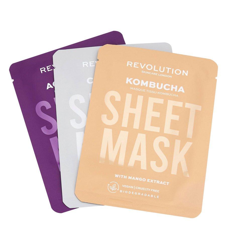 Revolution Beauty Revolution Skincare Biodegradable Combination Skin Sheet Mask 3pcs