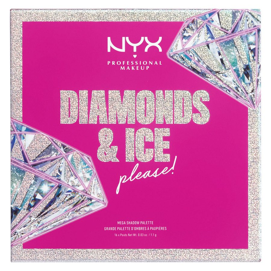 NYX Professional Makeup Xmas Diamonds & Ice 16 Pan Shadow Palette 16x1,1g