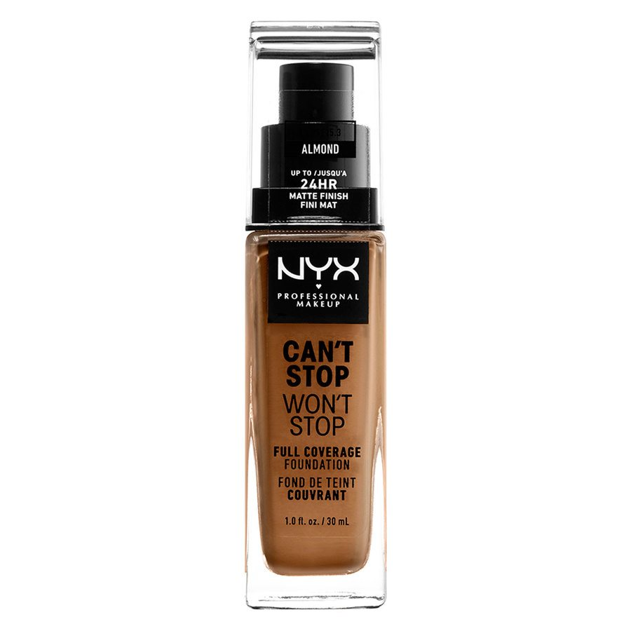 NYX Professional Makeup Can't Stop Won't Stop Full Coverage Foundation Almond 30ml