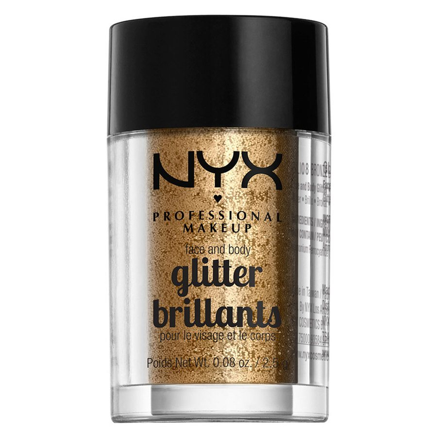 NYX Professional Makeup Face And Body Glitter Brilliants Bronze GLI08 2,5g