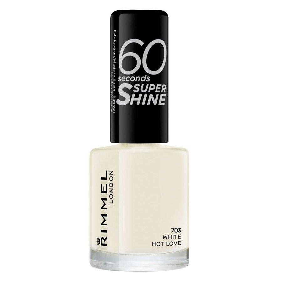 Rimmel London 60 Seconds Super Shine Nail Polish #703 White Hot Love 8ml