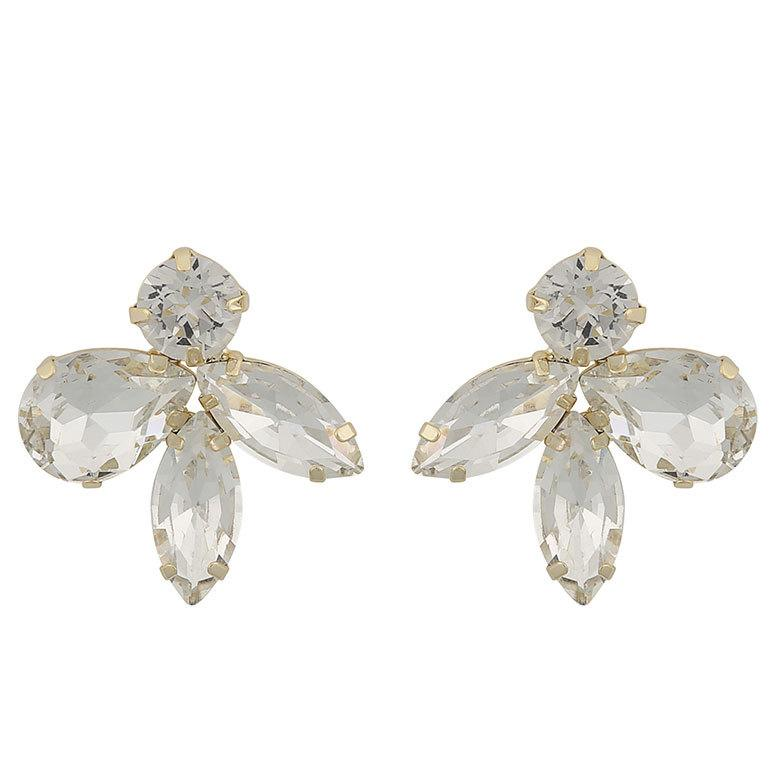 Snö Of Sweden Smith Earring Gold/Clear 29mm