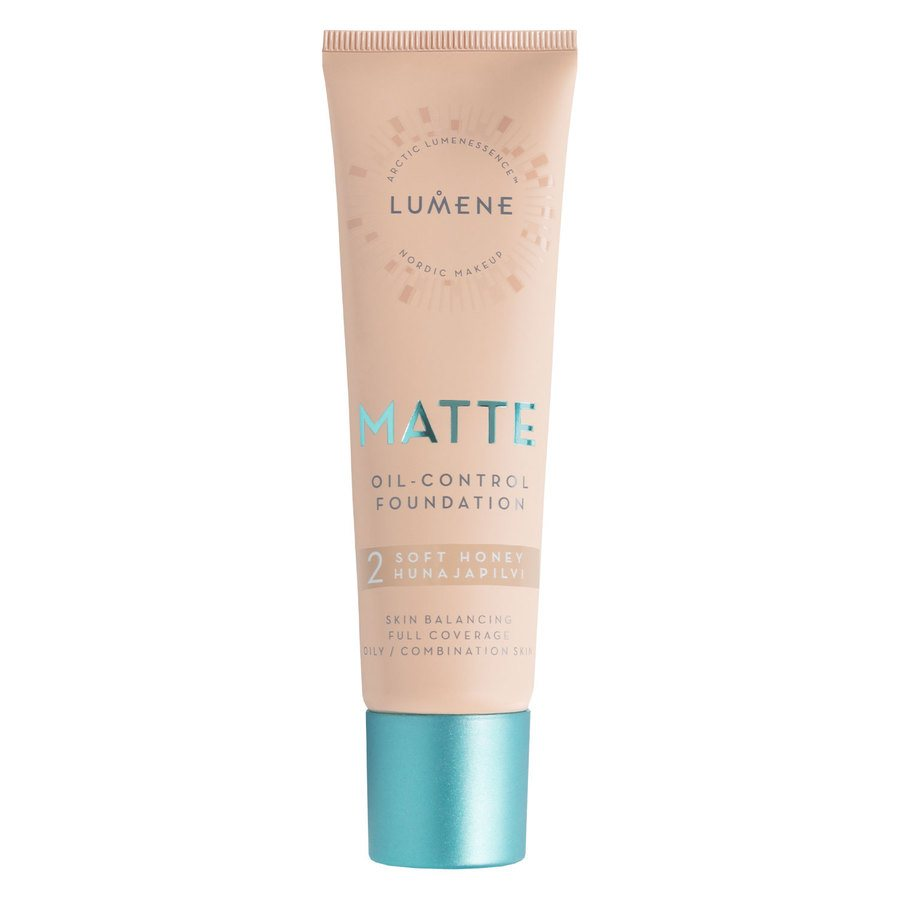 Lumene Matte Oil-Control Foundation #2 Soft Honey 30ml