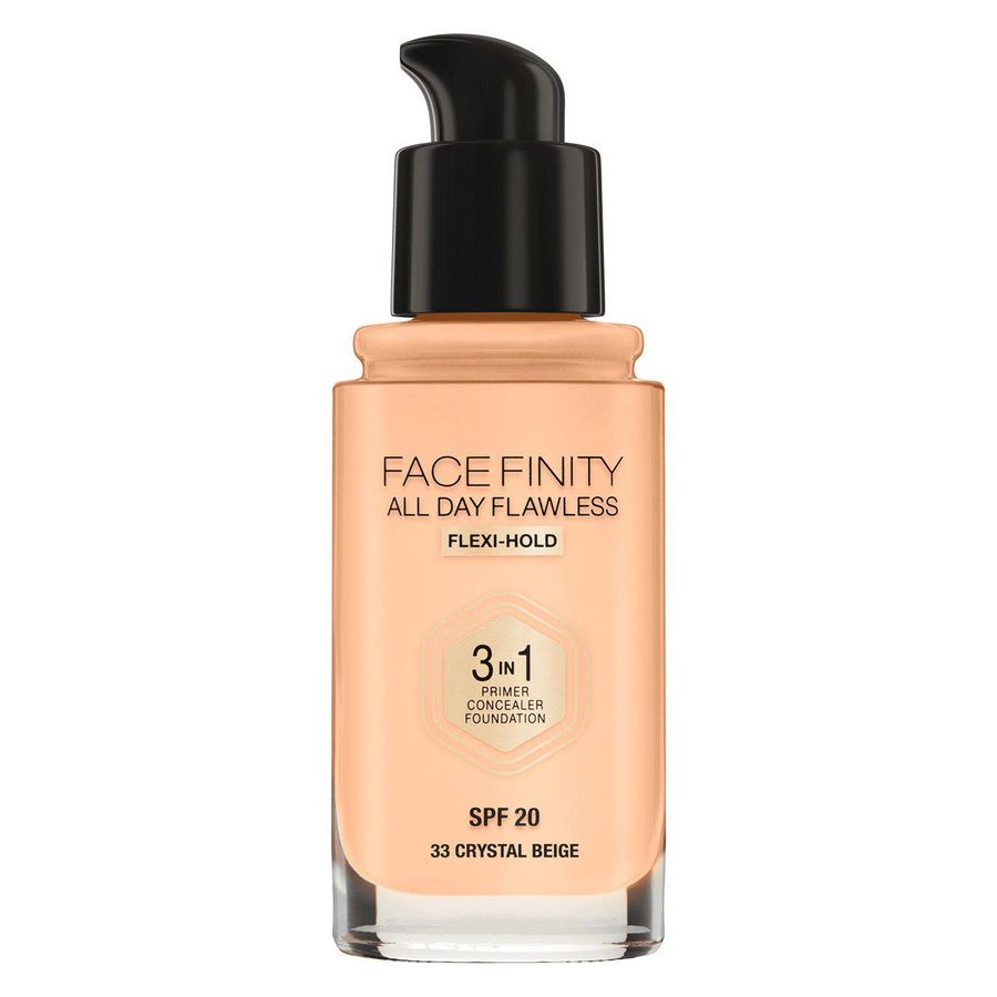 Max Factor Facefinity All Day Flawless 3-In-1 Foundation #33 Crystal Beige 30ml