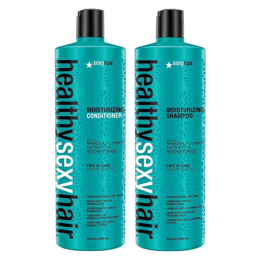 Sexy Hair Healthy Sexy Hair Color Safe Sulfate Free Soy Moisturizing Shampoo & Conditioner Duo 2x1000ml