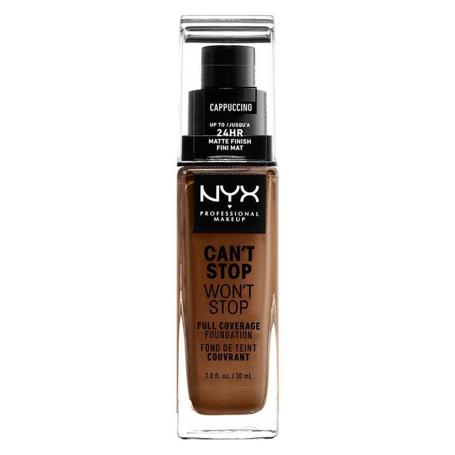 NYX Professional Makeup Can't Stop Won't Stop Full Coverage Foundation Cappucino 30ml