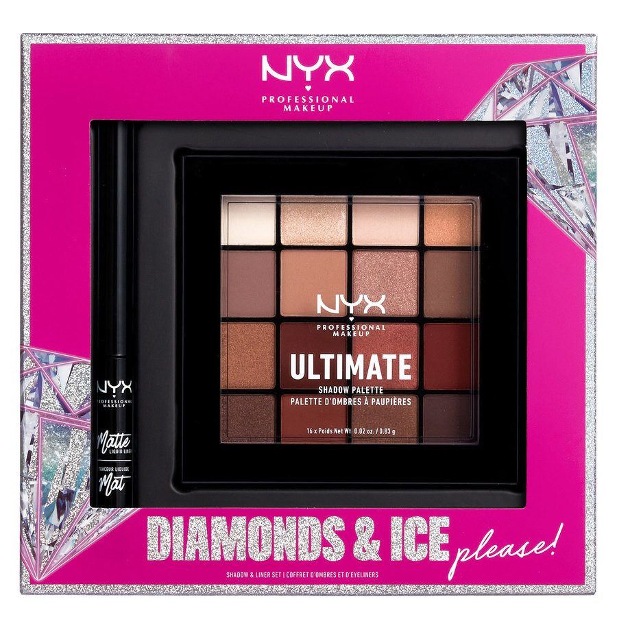 NYX Professional Makeup Xmas Diamonds & Ice Shadow & Liner Kit