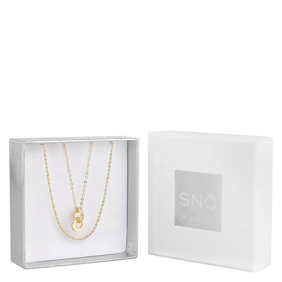 SNÖ of Sweden Crystal Royal Pendant Necklace Set Gold/Clear