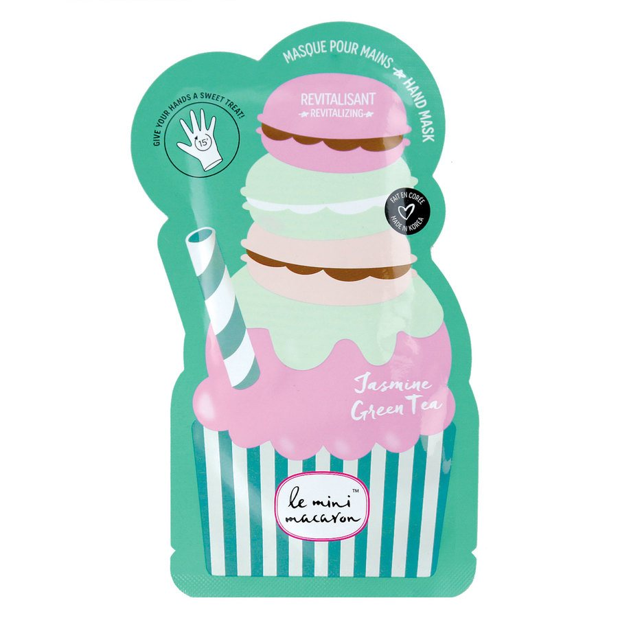 Le Mini Macaron Hand Mask Jasmine Green Tea 2pcs