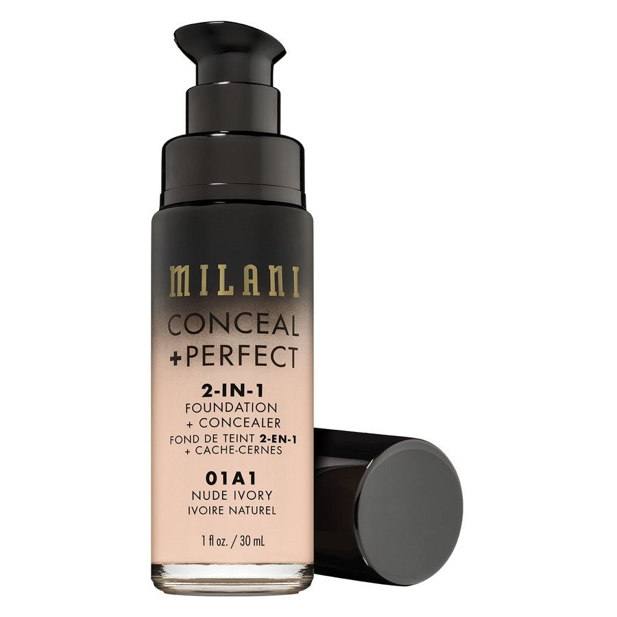 Milani Cosmetics Conceal & Perfect 2 In 1 Foundation + Concealer Nude Ivory 30ml