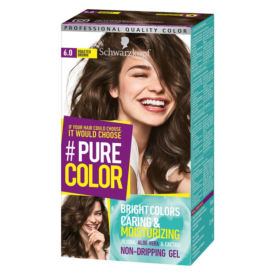 Schwarzkopf Pure Color 6.0 Roasted Brown 142g