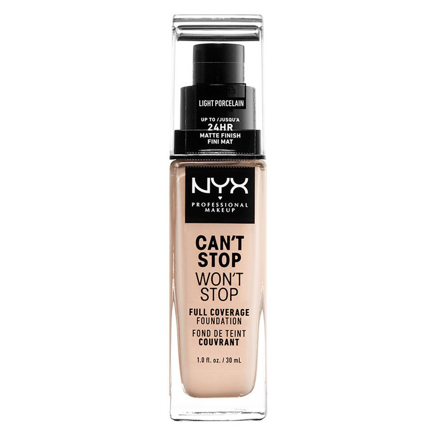 NYX Professional Makeup Can't Stop Won't Stop Full Coverage Foundation Light Porcelain 30ml