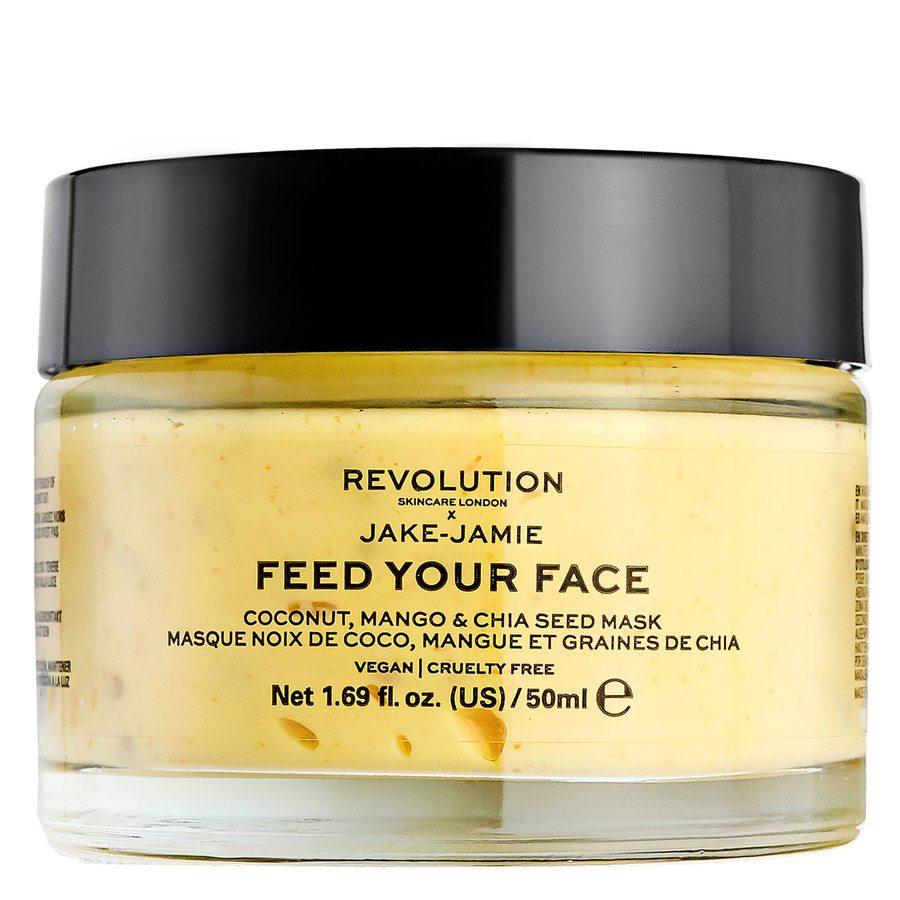 Revolution Skincare x Jake – Jamie Coconut, Mango & Chia Seed Radiant Glow Face Mask 50ml